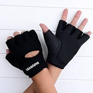 Training Fitness Slip-resistant Half Finger Gloves for Men and Women (Black, XL)