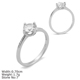 RZA0-321 Jewelry Supplies Sterling Silver 925 Ring Zirconia Wedding Engagement Ring