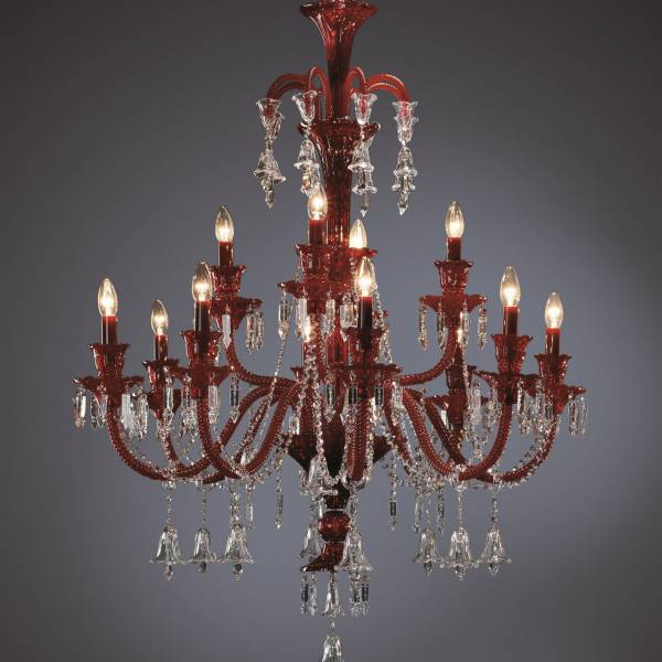 Red Acrylic Chandelier: Small Red Acrylic Crystal Chandelier Candle Classic