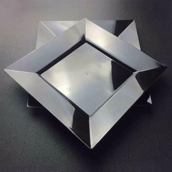 Plastic Disposable Black PS 6.5\u0026quot; 8\u0026quot; 9\u0026quot; 10.25\u0026quot;Silver plastic square Plate & Plastic Disposable Black Ps 6.5\