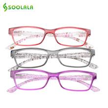 SOOLALA, весенние петли, очки для чтения, для женщин и мужчин, тонкий светильник, очки для дальнозоркости + 1,0 1,25 1,5 1,75 до 2,75 3,0 3,5 4,0(Китай)