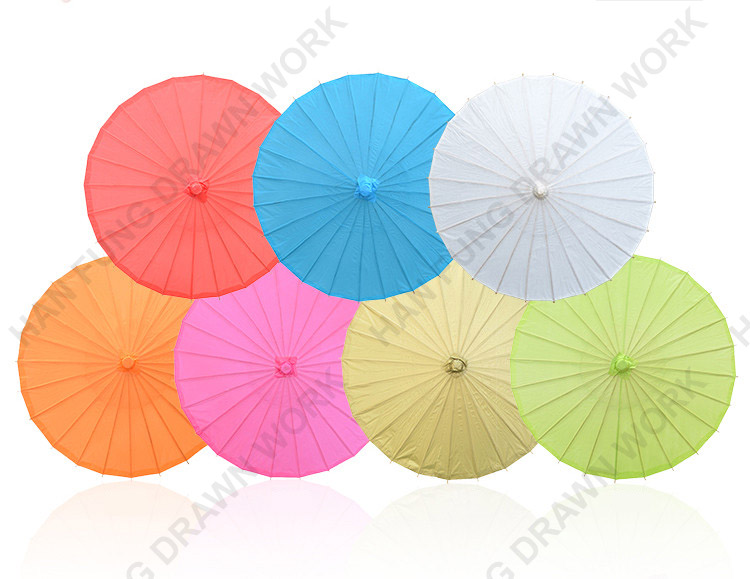 Chinese Custom Handmade Craft Colorful Oil Paper Umbrella For Wedding