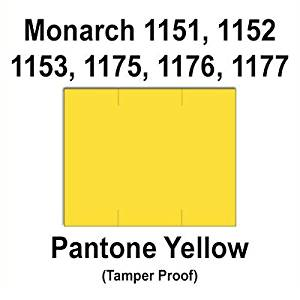 96,000 Monarch 1151 compatible Pantone Yellow General Purpose Labels to fit the Monarch 1151, 1152, 1153, 1175, 1176, 1177, 1180 & 1537 Price Guns. Full Case + includes 16 ink rollers.
