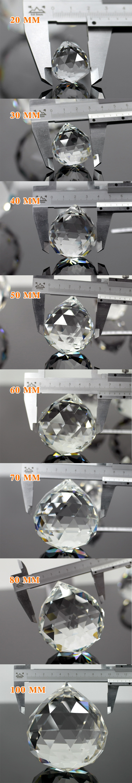 Wholesale 20mm 30mm 40mm 50mm 60mm 70mm 80mm 100mm clear glass christmas decorative faceted crystal balls pendant lighting balls
