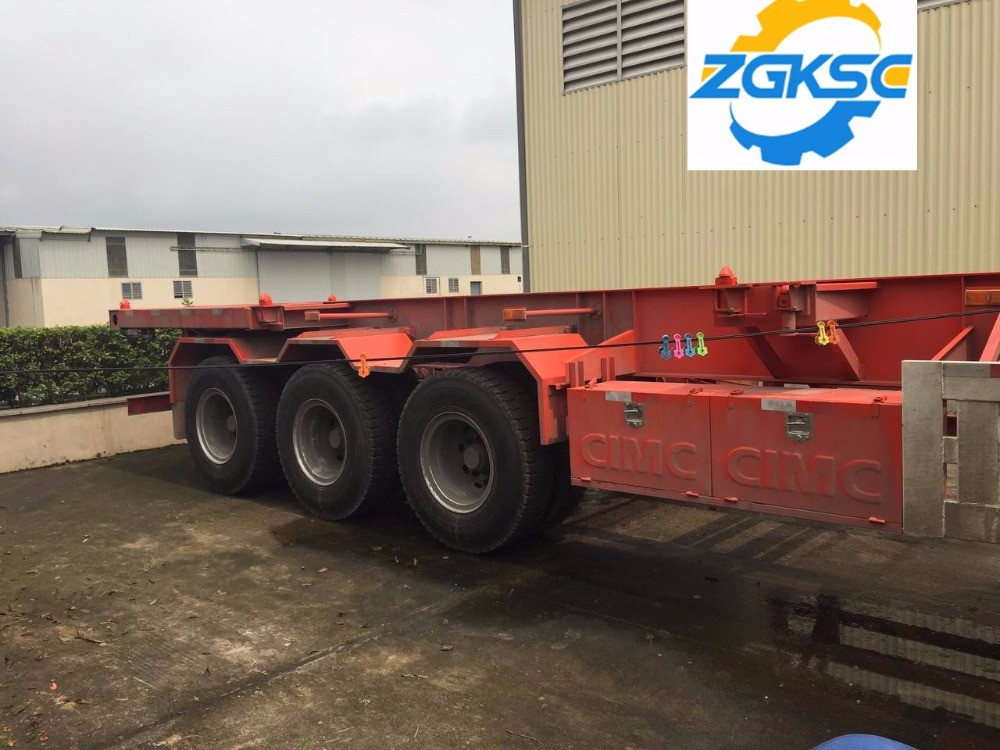 Skeleton Semi Trailer 3 Axle Skeletal Container Trailer With High Quality