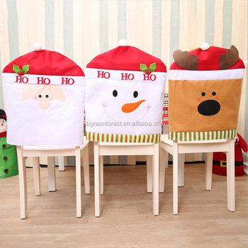 Excellent Christmas Chair Covers Santa Reindeer Snowman Dining Chairs Buy Christmas Chair Covers Santa Reindeer Snowman Dining Chairs Back Covers Kitchen Machost Co Dining Chair Design Ideas Machostcouk