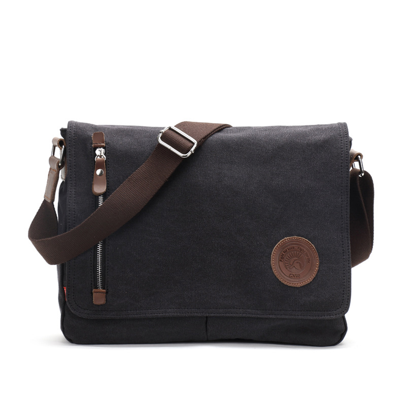 Vintage men canvas messenger bag crossbody shoulder messenger bag