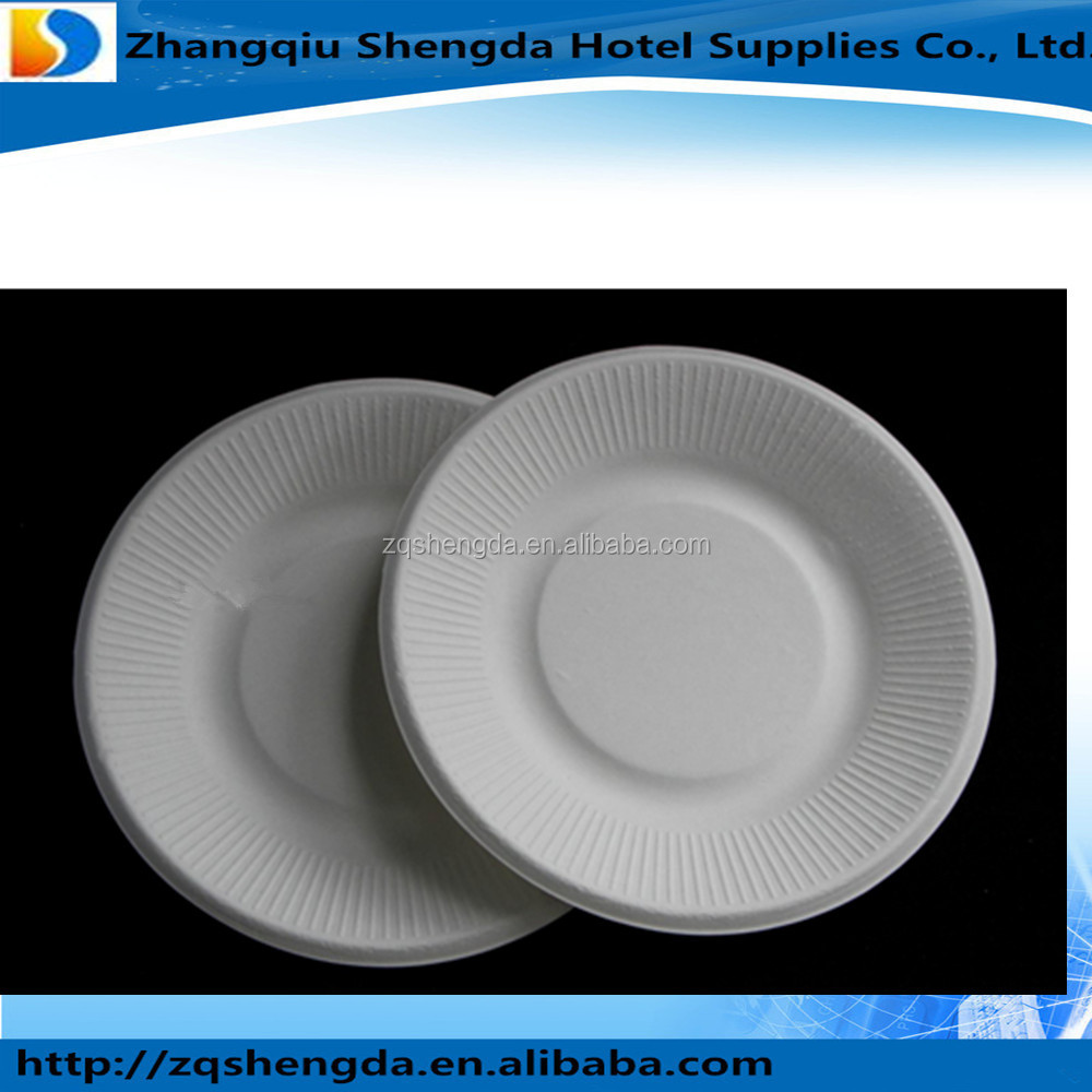 White Compostable Paper Plates Suzhou King Fly Paper Products   Technology Co   Ltd