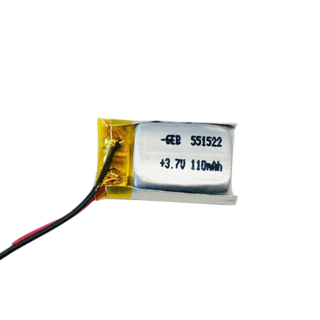 High quality rechargeable Ultra  small lithium polymer GEB551522 3.7v 110mah lipo battery