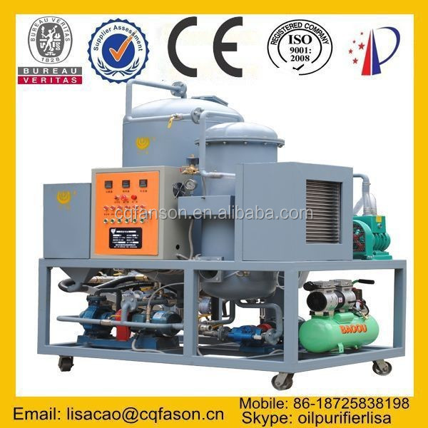 100% water removal CE Certified decoloration used black lubricant oil distillation plant