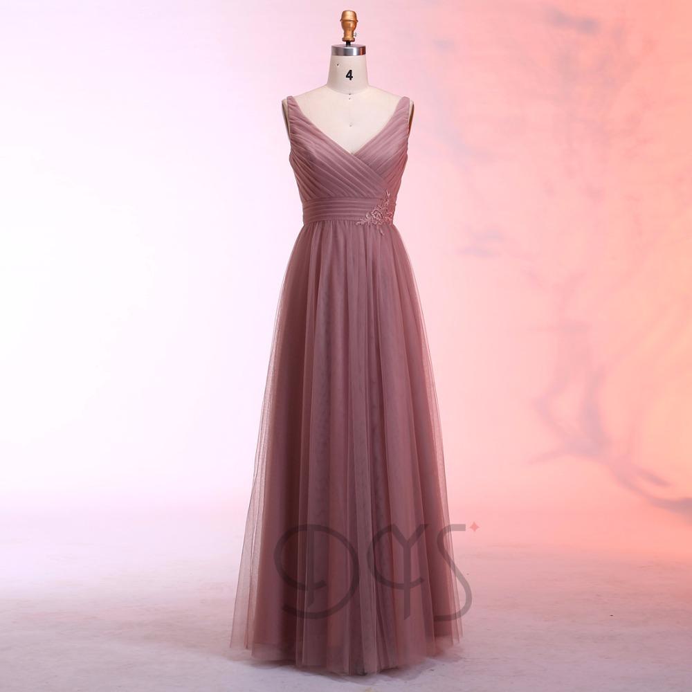 Venta al por mayor vestidos con mangas de damas de honor-Compre ...