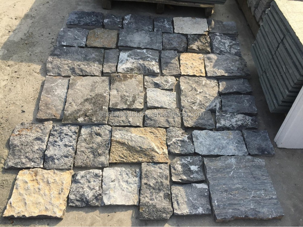 slade dark grey natural limestone pavers