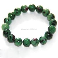8mm round natural ruby fuchsite rare gemstone precious bracelet