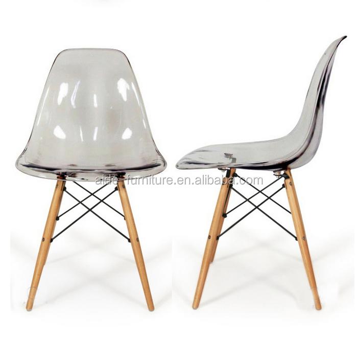 Modern design hot sales transparent furniture plastic chair in cafe