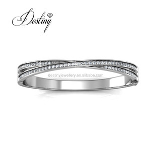 Destiny Jewellery 2018 new design custom made bangle for women made with crystal from Swarovski