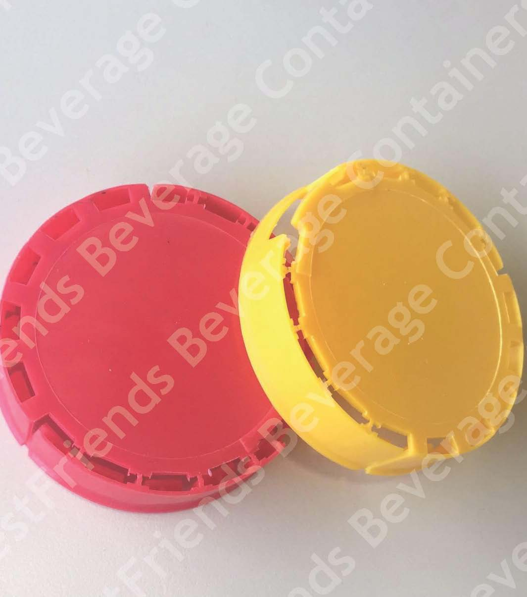 Breakable plastic biervat caps