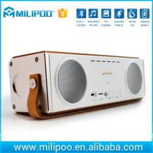 Portable Wooden Wireless Bluetooth Speakers, 20W Speaker with 3d hifi stereo subwoofer, build-in mic/3.5 Audio port
