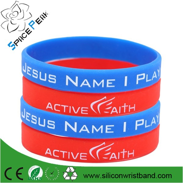Wholesale in jesus name i play jeremy lin silicone bracelet wristband