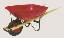 6CBF capacity plastic tray and heavy duty wooden handle wheelbarrow WH6600S