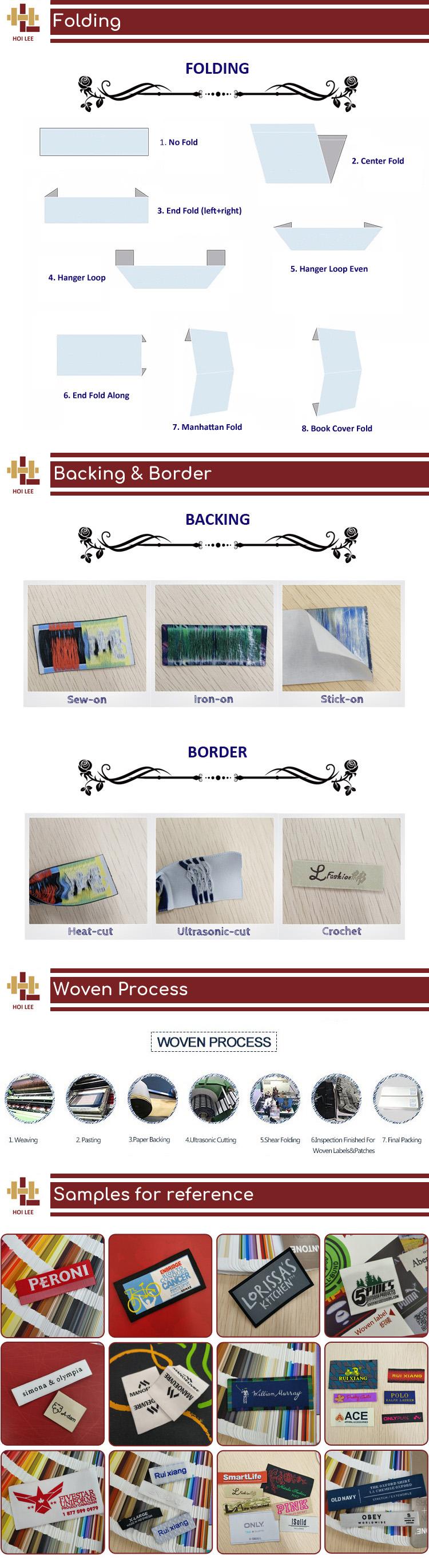 No minimum order custom logo clothing labels end fold pillow labels bag labels