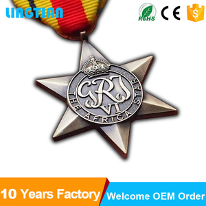 China Factory Cheap Custom Gold Metal Military Award Medal