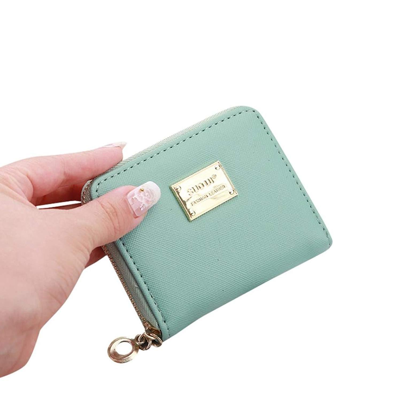 FDelinK Women Lady Leather Small Wallet Card Holder Zip Money Purse Girl Clutch Bag Handbag