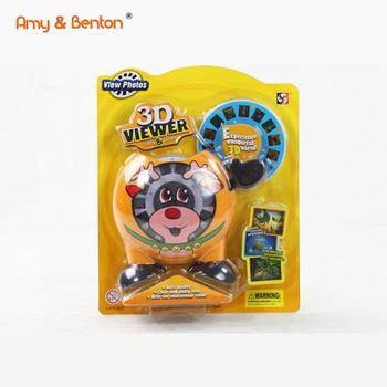 New Design Cartoon Animal View Master Camera VIew 3D Picture Projector Toy