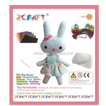 Cartoon Figure Craft Kits Felt Diy Handmade Stuffed Toy Mini Felt