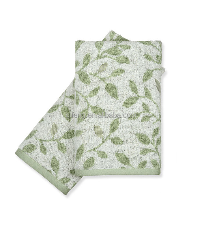 Peri brand quality ivy pattern jacquard bath towel set China manufacturer