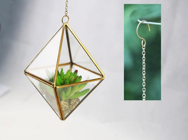 Indoor gardening handmade geometric glass terrarium for modern planter 13