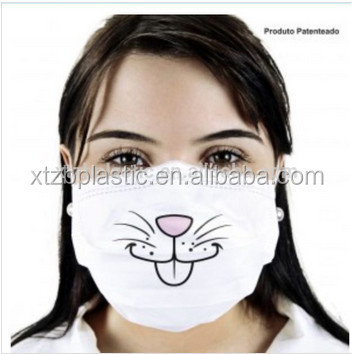 Funny Face Custom Printed Beauty Disposable PP Nonwoven Surgical Pollution Mask