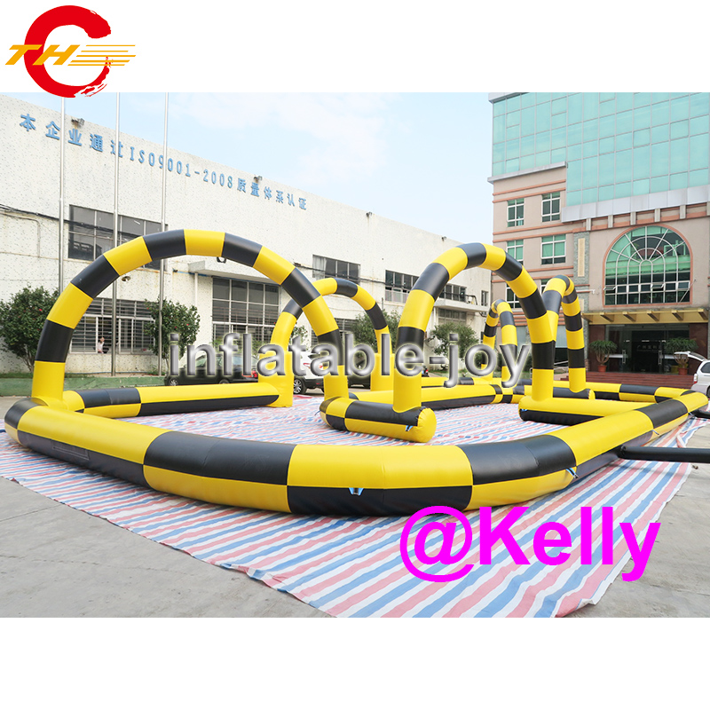 free shipping inflatable air track for children car race, inflatable zorb ball race track supplier