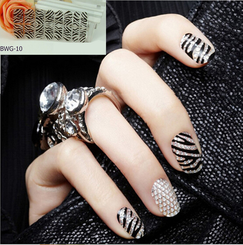 Stickers for Nails DIY 3D Nail Art Diamond (size15 * 7.5cm ...
