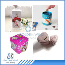 Saving box coin tin can container making machine production line/Money banks tin can plant factory price