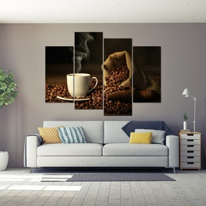Custom Digital Photo Printing On Canvas 4 panels/sets canvas wall art prints