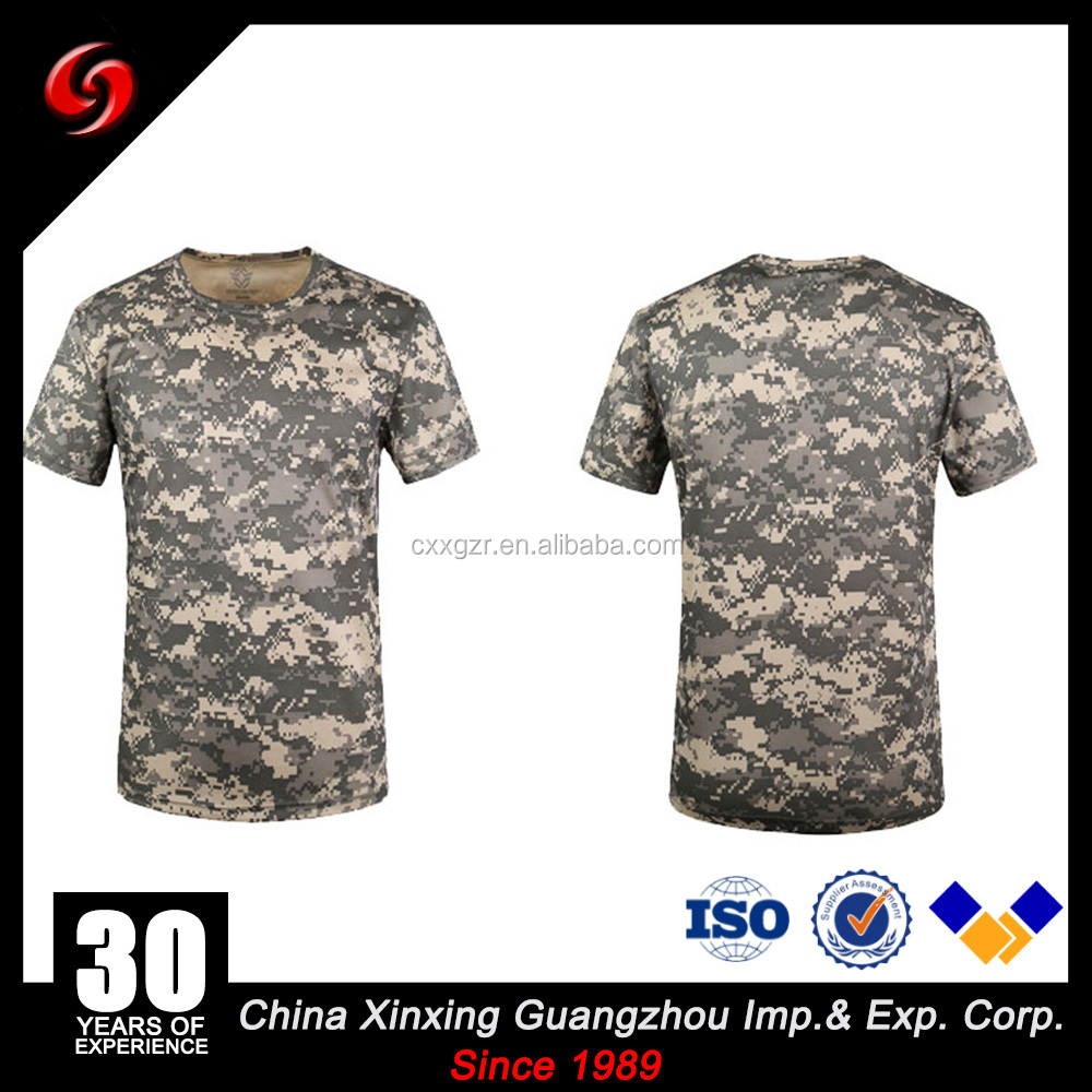 Supper supplier for ACU camouflage /army traning cotton/ T/C men's T-shirt
