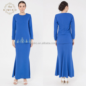 2016 OEM Manufacturer Vogue Bead Baju Kurung For Women