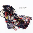 rhinestone hijab scarf silk digital print shawls for women pashmina