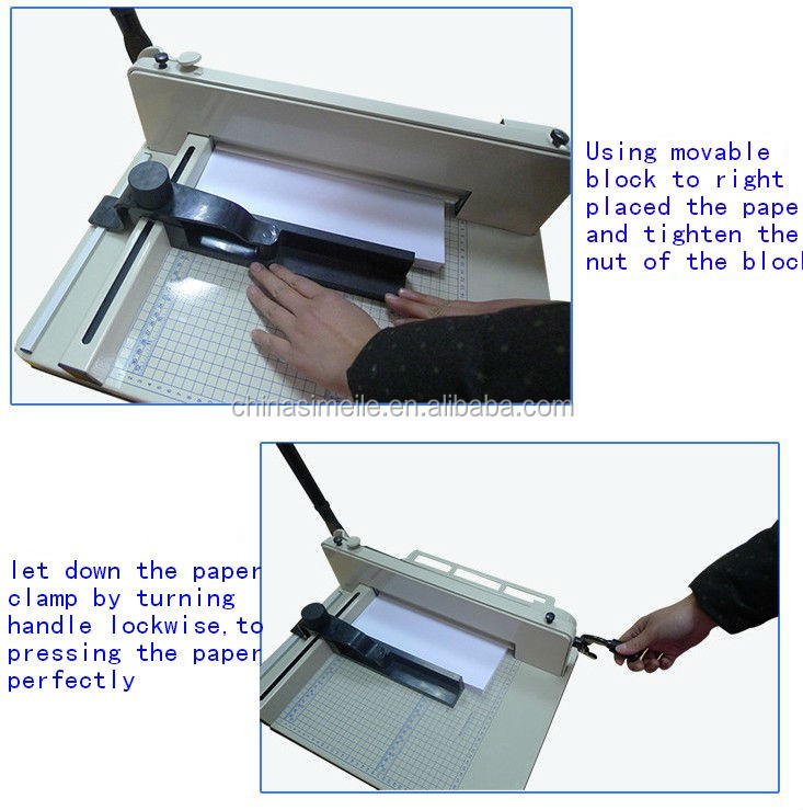 Professional 868 A4 China High Quality Electric Guillotine Manual Paper Cutter