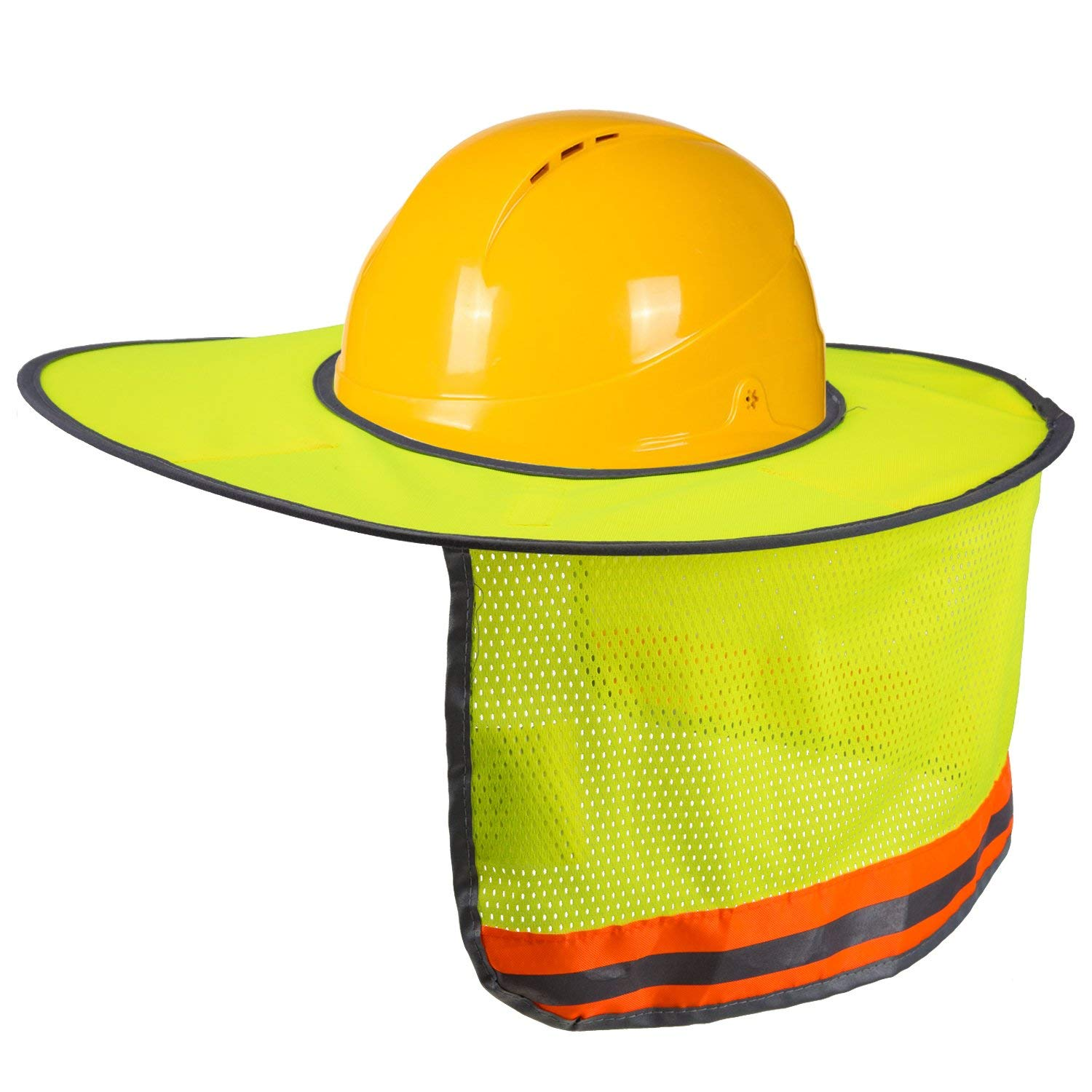 240d11a8df0 Get Quotations · LUTER Hard Hat Sun Shade Neck Shield Sun Protection With  Reflective Strip and High Visable Mesh