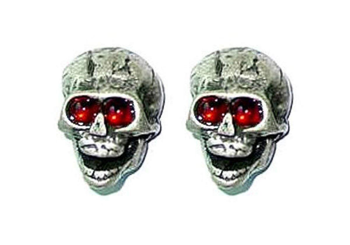 guitar accessories SKULL KNOBS - SILVER / RED Eyes, 2 pcs