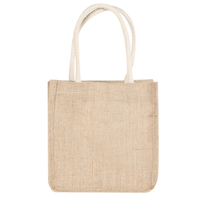 Cheap wholesale burlap cosmetic plain beach sand shopping jute bag
