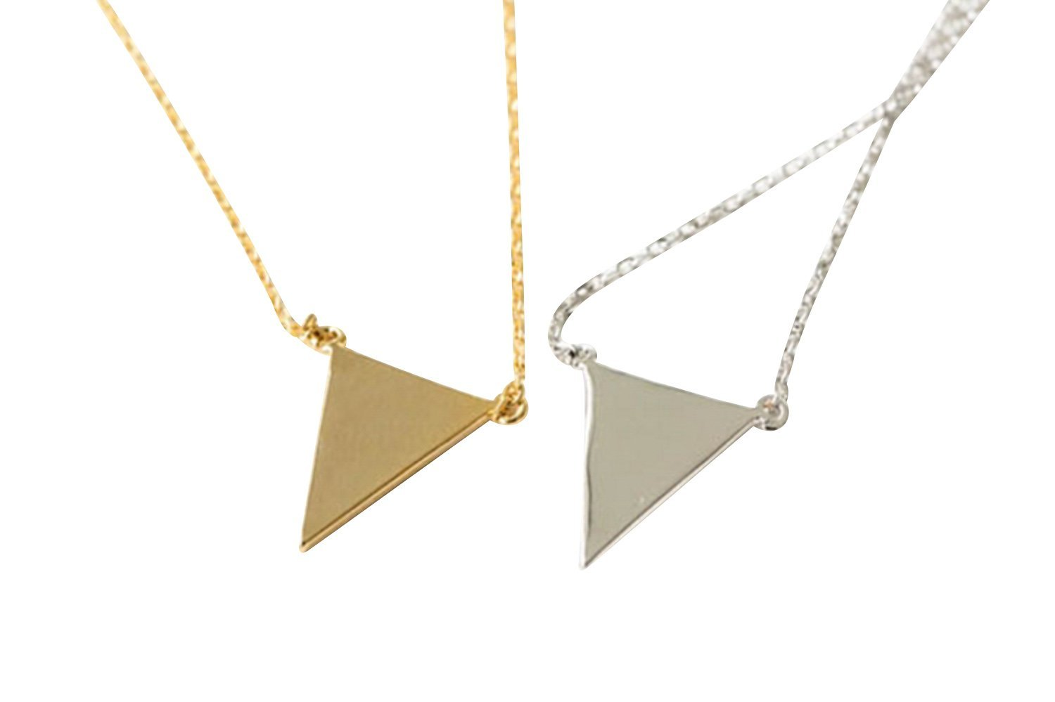 Upside Down Triangle Necklace-mo , triangle jewelry, triangle necklace, triangle shape jewelry, triangle shape necklace, triangle jewellry, geometric