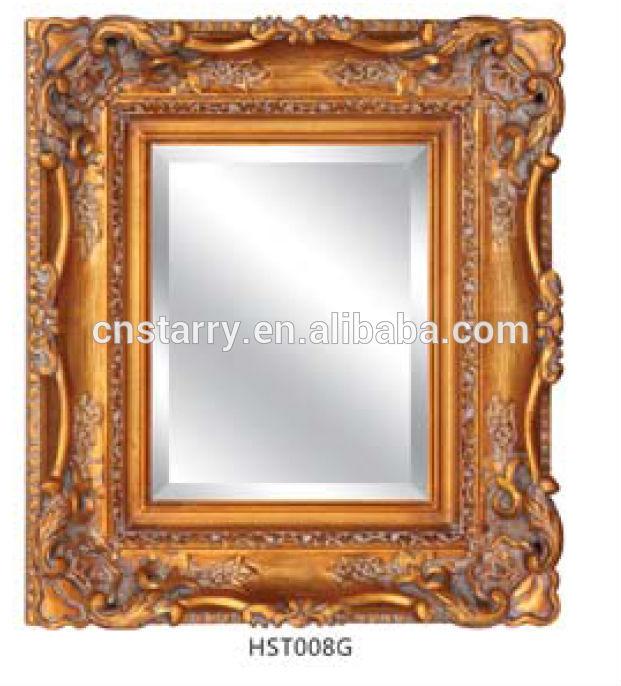oro antiguo tallado en madera marco del espejo para la decoración ...