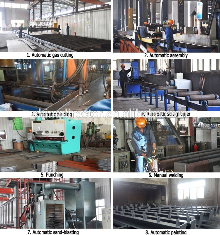 Shandong pre-fabricated steel structure mauritius construction warehouse