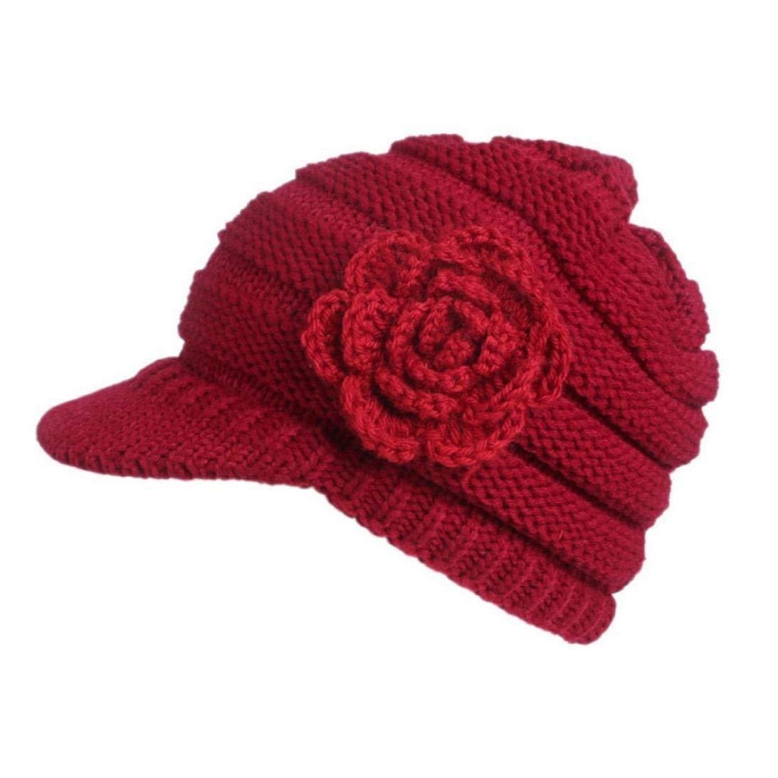HENGSONG Womens Warm Wool Berets Beanies Tam Baggy Hats Ski Caps White