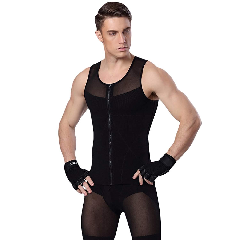 cf044a0310 Get Quotations · WEEN CHARM Mens Slimming Body Shaper Vest Shirt Mens  Shirts Undershirts Shapewear