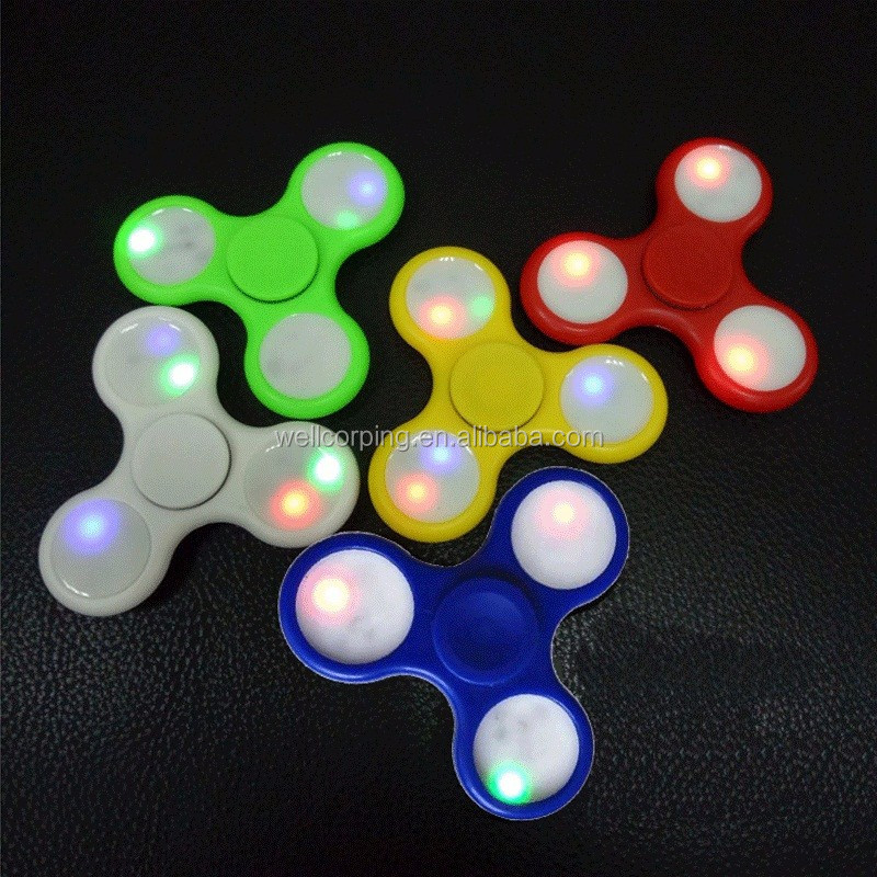 No.1 Sales!!! LED light flash new design Fidget led hand spinner