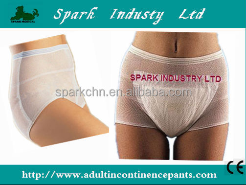 Hospital Disposable Medical Ladies Mesh Panties For Women/Disposable Incontinence Pants
