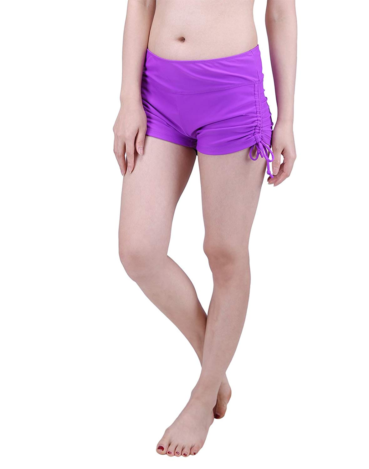 a6e3920800 Get Quotations · HDE Womens Swim Brief with Ties Mini Boy Short Bikini  Bottoms Swimsuit Separates